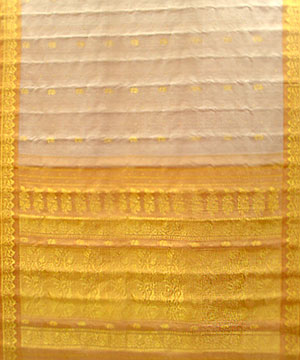 Tan Color Pure Silk Saree