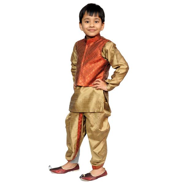Dhoti Kurta with Jacket for Boys