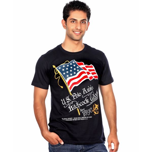 U.S.Polo Assn Black T-shirt for Men