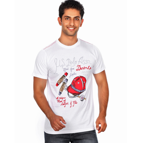 U.S.Polo Assn White T-shirt for Men