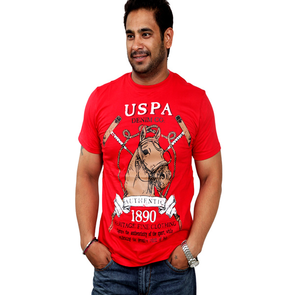U.S.Polo Assn Red T-shirt for Men