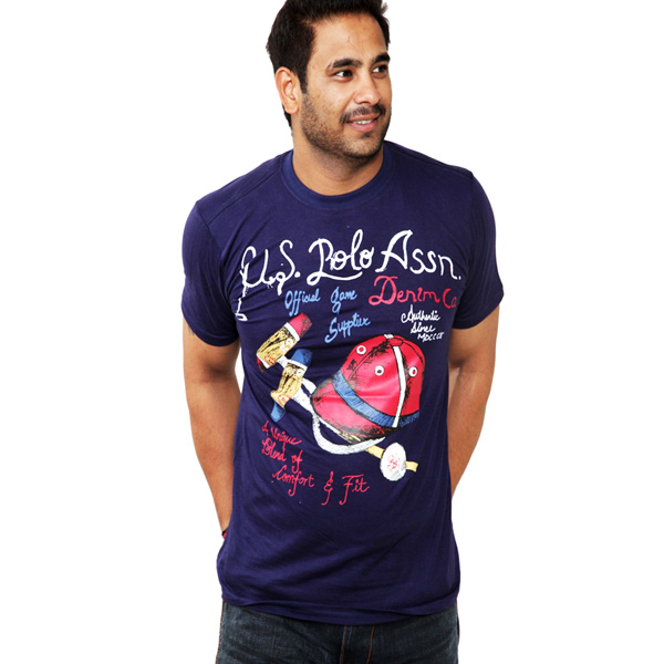 U.S.Polo Assn Navy Blue T-shirt for Men