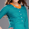 Green Cotton Polyester Dress for Women