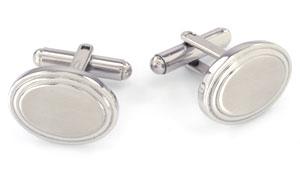 Orosilber's Stainless Steel Cufflinks