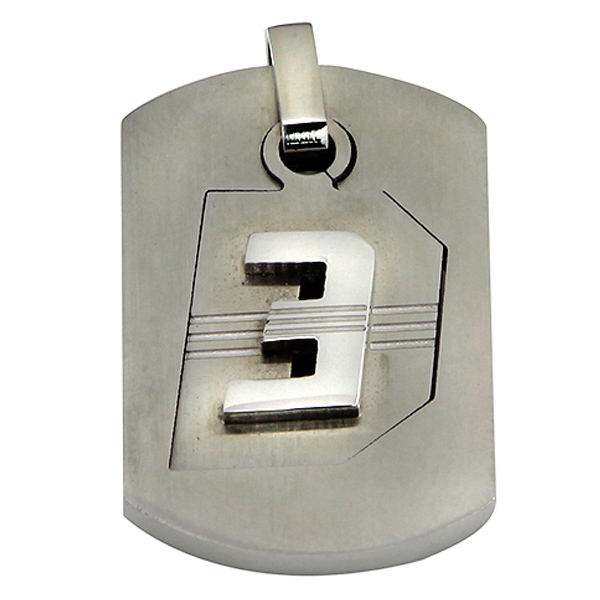 Orosilber Dhoom 3 Dog Tag Shaped Pendant for Men