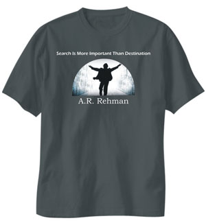 a r rahman slogan printed t shirt for men apparel. Black Bedroom Furniture Sets. Home Design Ideas