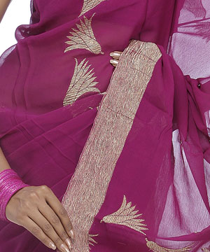 Chiffon saree-Pure Chiffon Saree