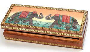 Real Gem Stone Jewellery Box