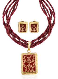 Traditional Ethnic Handcrafted Thewa Set