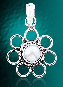 Pearl Pendant In Silver