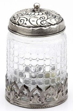 Attractive Multiutility Jar with Crinkled Glass