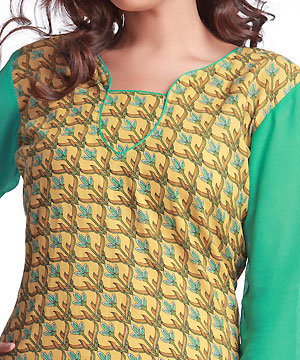 Cotton Kurta with Block Print