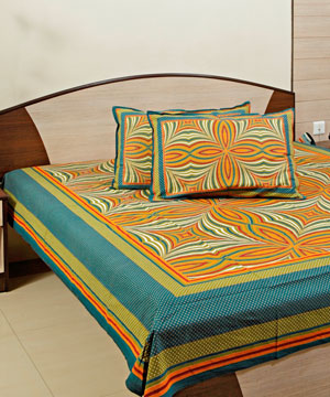 Designer Bed Sheet with 02 Pillow Covers