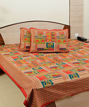 Digital Print Cotton Bedspread with 02 Pillow Covers