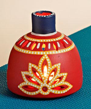 Lovely Red Tea Light Holder