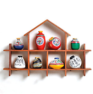 Wall Mount Set of Miniature Pots