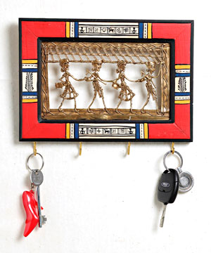 Dhokra Work Key Holder
