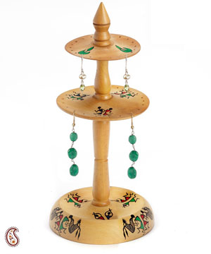 Hand Painted Earrings Stand