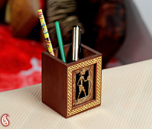 Attractive Tribal Motif Pen Holder