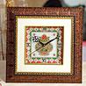 Gold Painted Marble Kalash Clock