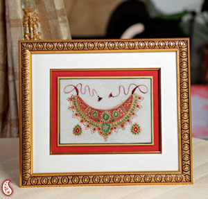 Hand Painted Kundan Work Hanging