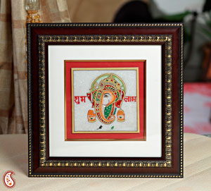 Gold Painted Lord Ganesha Hanging