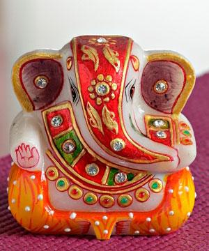 Hand Painted Gold Work Ganesha ji