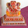 Marble Chowki Ganesha with Kundan Work