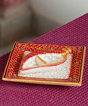 Gold Work Marble Tilak Thaali