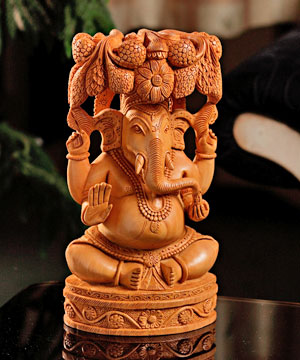 Pleasingly Carved Ganesha