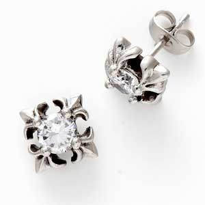 Oxidised Metal and CZ Studs