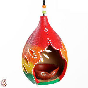 Hand Crafted Terracotta Hanging Diya