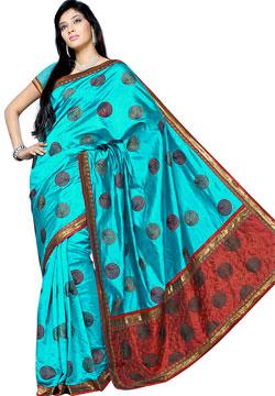 Handloom Silk Embroidery Saree