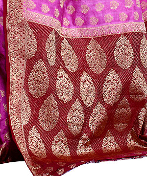 Art Silk Sarees-Fuchsia Pink Silk Saree