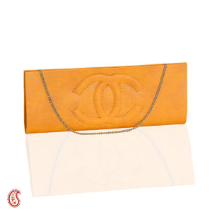 Amber Yellow Leather Clutch