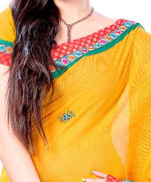 Cotton Sarees-Sunglow Yellow Zari Brocade Kota Saree