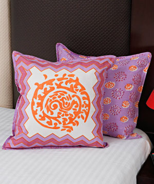 Orange & Purple Cushion Covers - Set of 2