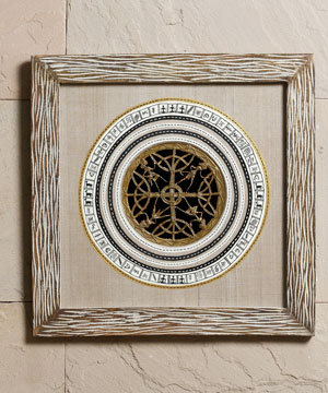 Antique Look Wood Frame with Dhokra Work