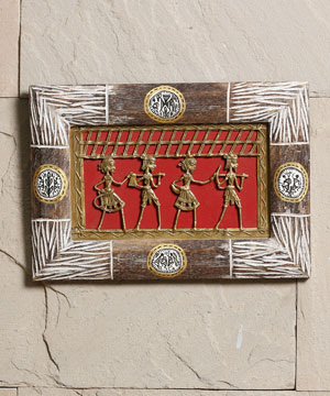 Attractive Frame with Dhokra Work & Warli Paint