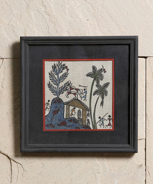 Wall Frame with Warli Paint