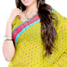 Gift Ethnic Mirror Work Georgette Saree on Mothers Day