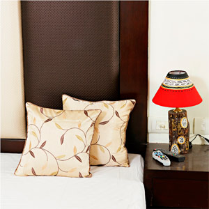 Beige Brown Embroidered Silk Cushion Cover Set