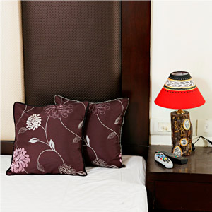 Violet Maroon Tusser Silk Cushion Cover Set