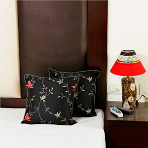 Alice Black Dupion Silk Cushion Cover Set