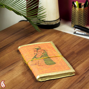 Eco-Friendly Gifts-Radha Krishna Printed Hand Made Paper Diary