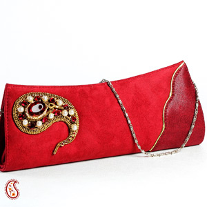 Suede Boat Clutch