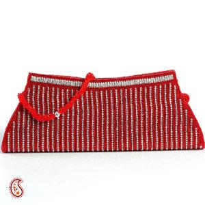 Venetian Red Bead & Stone Clutch