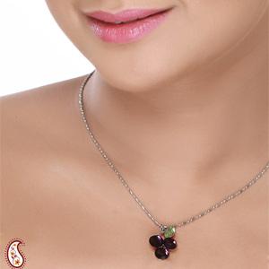 Purple Grape Crystal Pendant