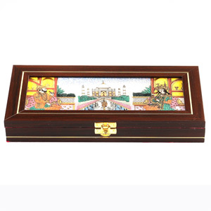 Taj Mahal Design Gemstone Jewellery Box