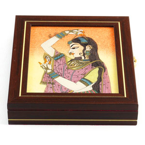 Jewellery Box with Gemstone Inlay Work